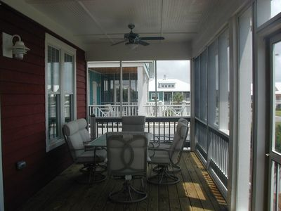 Kure Beach house rental - back porch