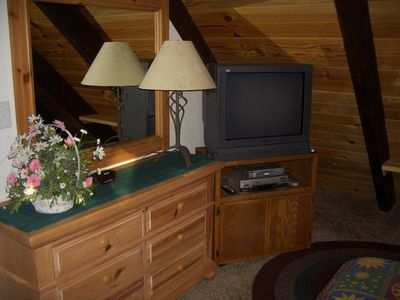 Upstairs Master Suite is Fully-furnished with Cable TV & DVD/VCR.