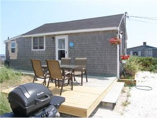 East Sandwich cottage photo - Side deck with grill
