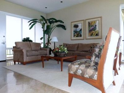 Designer furnished living room.