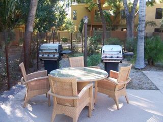 Old Town Scottsdale condo photo - Pool area has Gas Grills for you to BBQ