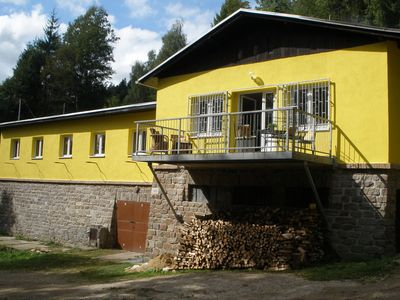 Comfortable and child-friendly holiday in Nedvedice with beautiful location and ditto view