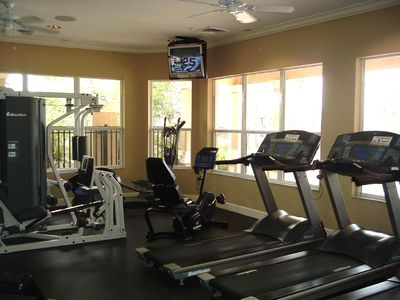 Fitness Center Overlooks Pool