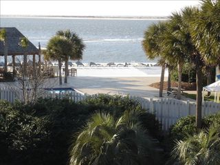 Seabrook Island condo photo - Fantastic ocean view from deck and bedroom