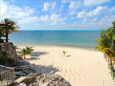 Isla Mujeres villa rental - Private beach directly in front of the terrace