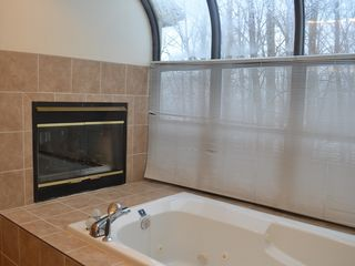 Lake Wallenpaupack property rental photo - Jaccuzi in the master bedroom