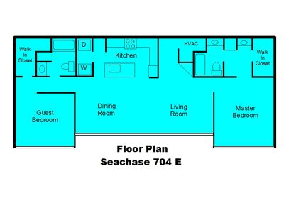 1400 s.f. Roommate floorplan, huge walk-in closets.