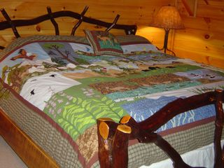 Blowing Rock cabin photo - Second bedroom with King