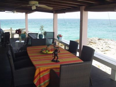 Enjoy Local Lobsters on your own 45 foot Private Oceanfront Porch at Sunset
