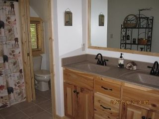 Munising cottage photo - Loft bathroom.