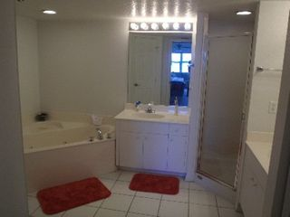Cape Canaveral condo photo - Master bathroom; twin sinks, Closets, WC
