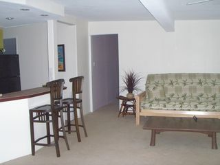 Haleiwa cottage photo - Kitchen & Living Area w/Full size Futon