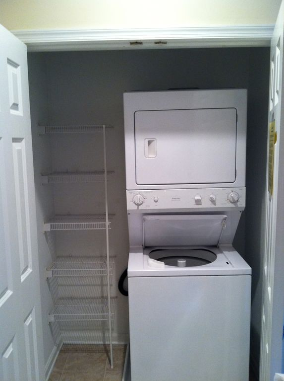 Full sized washer and dryer with extra storage