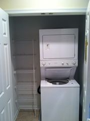 Rehoboth Beach condo photo - Full sized washer and dryer with extra storage