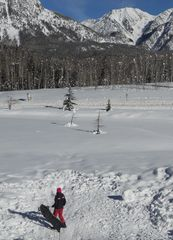 Durango condo photo - The sledding hill just outside our door with amazing views - we supply the sled