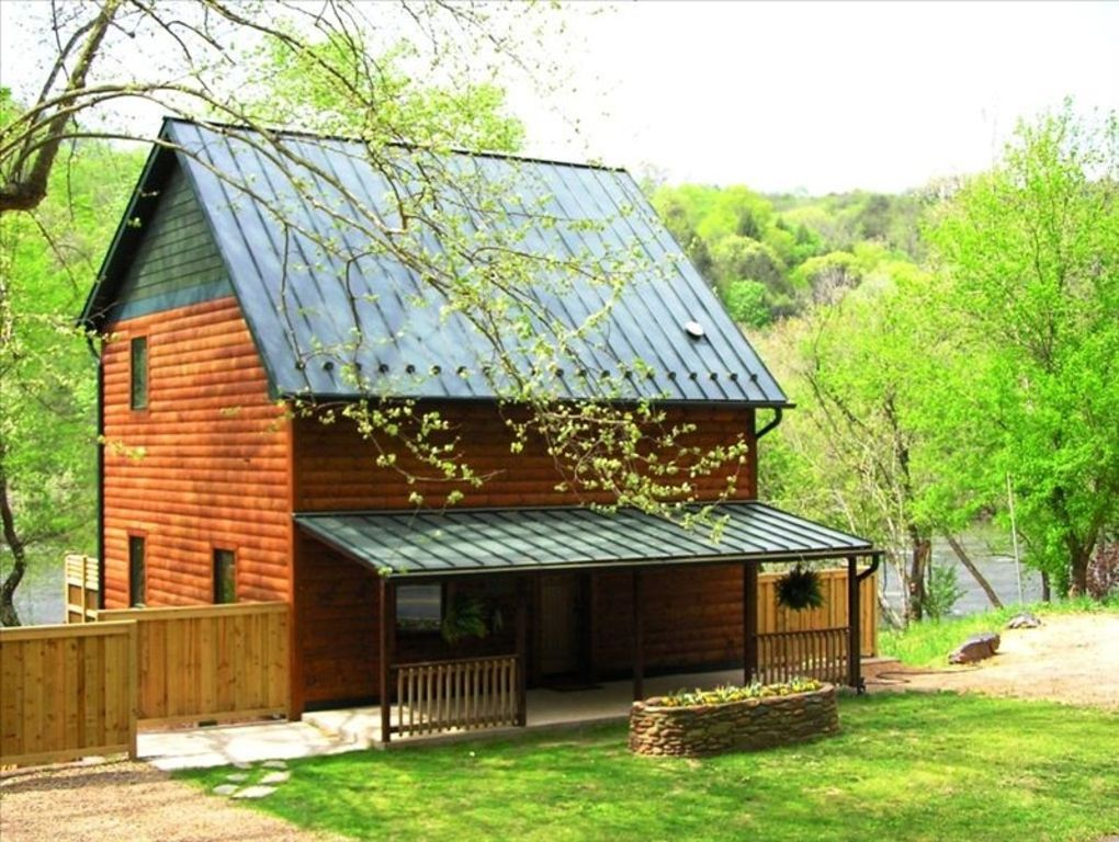 Riverfront Log Cabin With Hot Tub On Vrbo