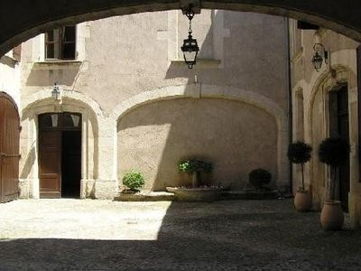 the 17th-century courtyard