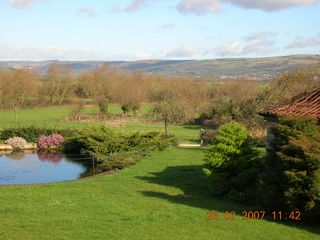 Theale cottage rental - Views of grounds and Mendips from Ravenswood