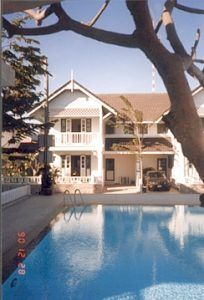Hua Hin house rental - View of the house from the swimming pool