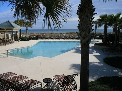 Main Swimming Pool overlooking Ocean and Beach