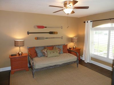 Fourth Bedroom features twin day bed, closet & make up dresser