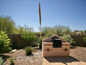Oro Valley house rental - built in BBQ open space behind yard,beautiful views of the mountains. Privacy