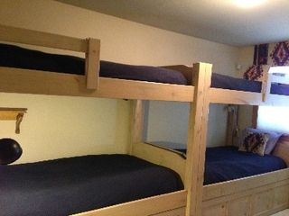 Copper Mountain townhome photo - Large comfortable custom bunk beds with down comforters.