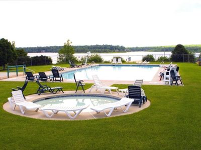 Albrightsville chalet rental - What's Summer Without The Pool!! Big Pool/Kiddie Pool/Lake! Real Tough Choices!