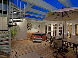 Key West condo photo - Huge Deck with Staircase to Rooftop Viewing Platform ... Great Sunsets!