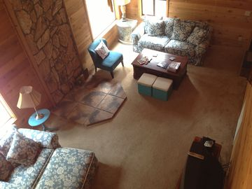 Arnold cabin rental - View from loft