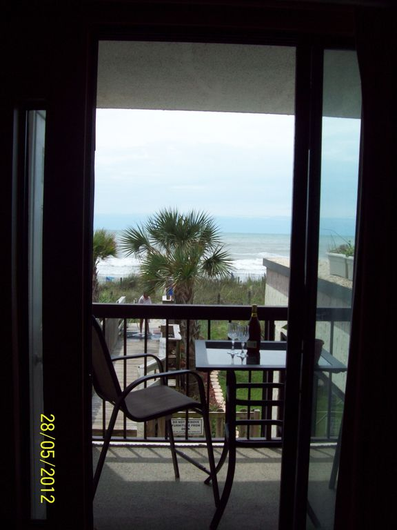 View of the balcony from the living room