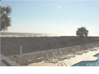 view from pool area - Isle of Palms condo vacation rental photo