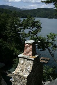 Lake Jocassee chateau / country house rental - Stunning lake front views from all levels, including every bedroom.
