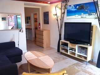 "Cardiff by the Sea cottage photo - 50"" flat screen TV for your relaxation time after a great day at the beach"