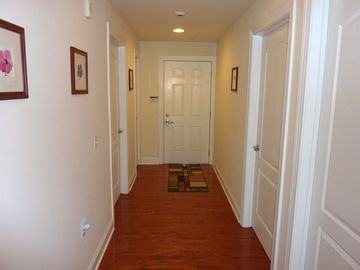 hallway with hardwood floor