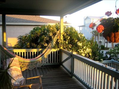 Wrightsville Beach cottage rental - Gaze at the ocean without moving from the hammock.