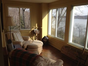 Cozy up and Read in the Sun Room