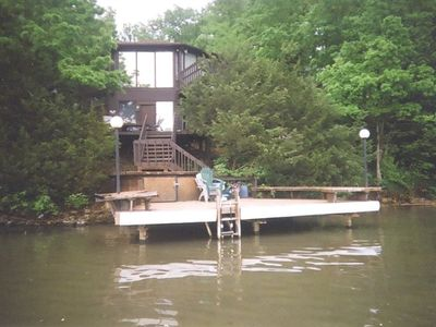 Water view of villa/private martini deck/dock to swim ,tie up boat or fish