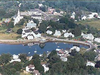 Kennebunkport cottage photo - Cape Porpoise Village. We are just above the photo