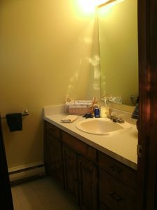 Bear Lake cottage rental - Half Bath off Master