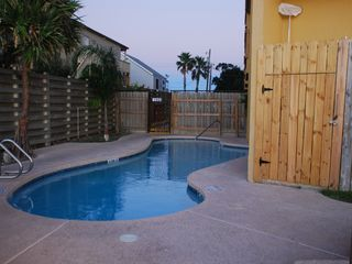 South Padre Island condo photo - Pool with Jacuzzi and BBQ Grills available
