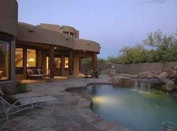 Boulders Scottsdale house rental - Evening view of pool