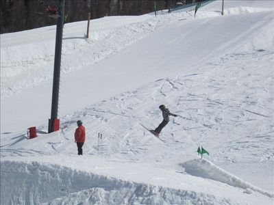Getting some air at the terrain park!