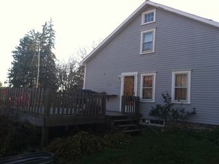Stephentown cottage photo - Large rear deck overlooks field and prennial gardens