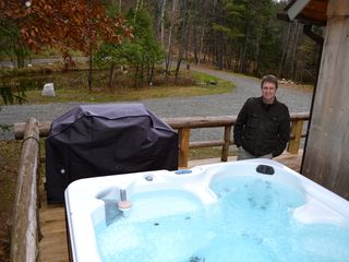 Lake Placid lodge photo - 6 person Hot Tub, Gas Grill, Pond, Country Bumpkin
