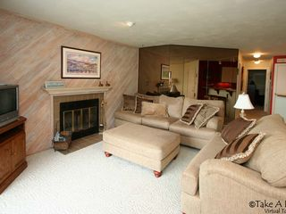 Moneta condo photo - Great Room with fireplace.