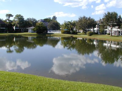 lake in front of condo