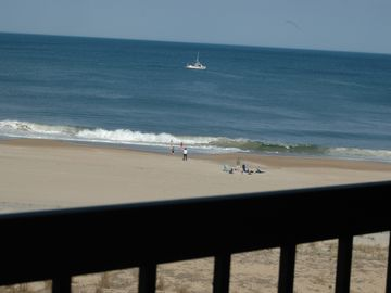 Bethany Beach condo rental - SHOT IS FROM THE CONDO'S FIFTH FLOOR BALCONY. (Inside shots have drapes closed.)