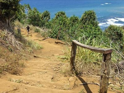 The trail down to Pololu Beach