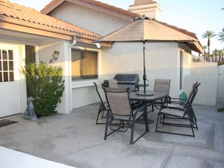Private courtyard with gas grill - Palm Desert condo vacation rental photo